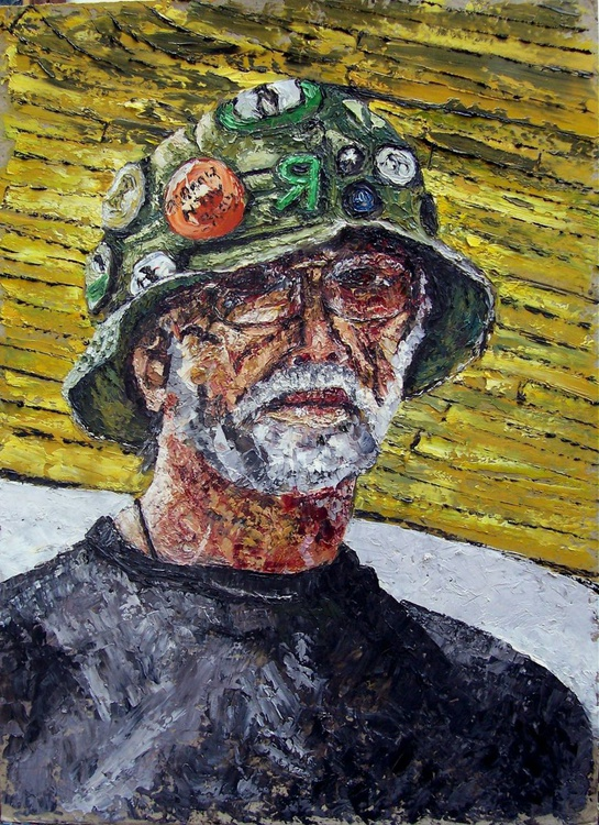 Self-portrait in summer hat - Image 0