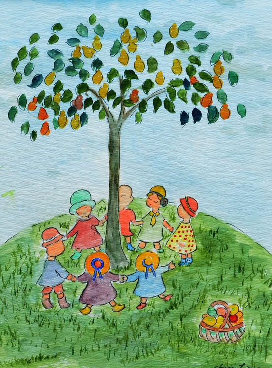 Children playing under the tree - Image 0