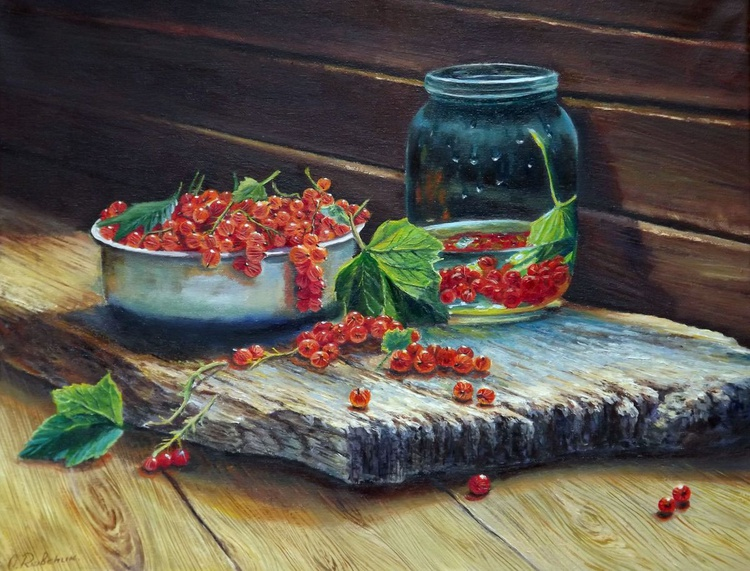 Still Life with Red Currants - Image 0