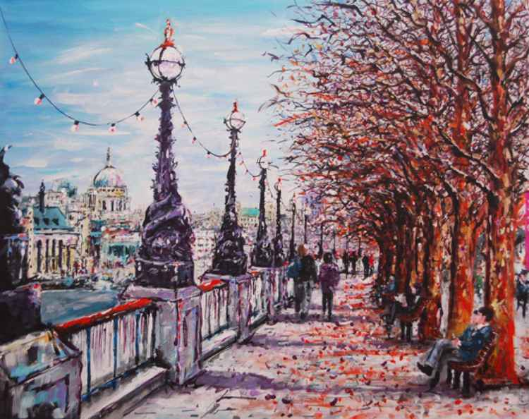 Autumn on the Embankment -