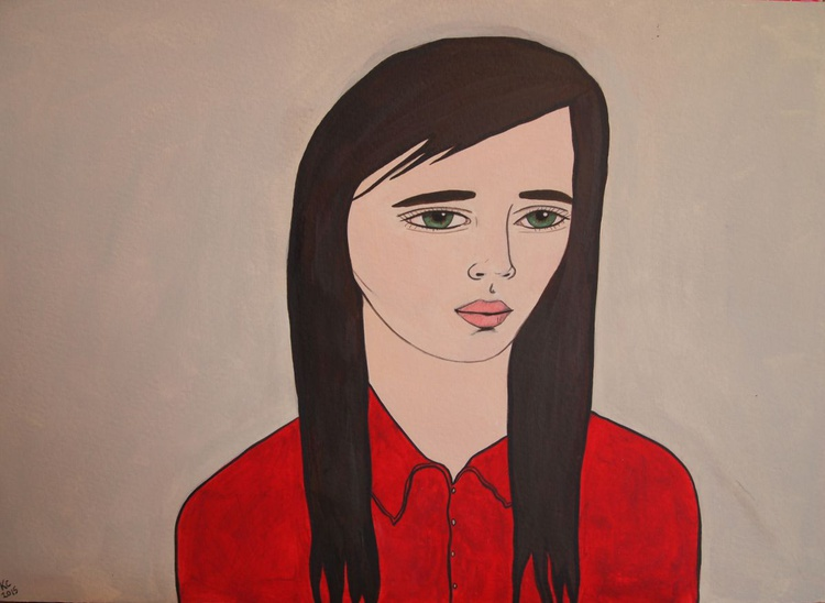 Girl in a Red Shirt - Image 0