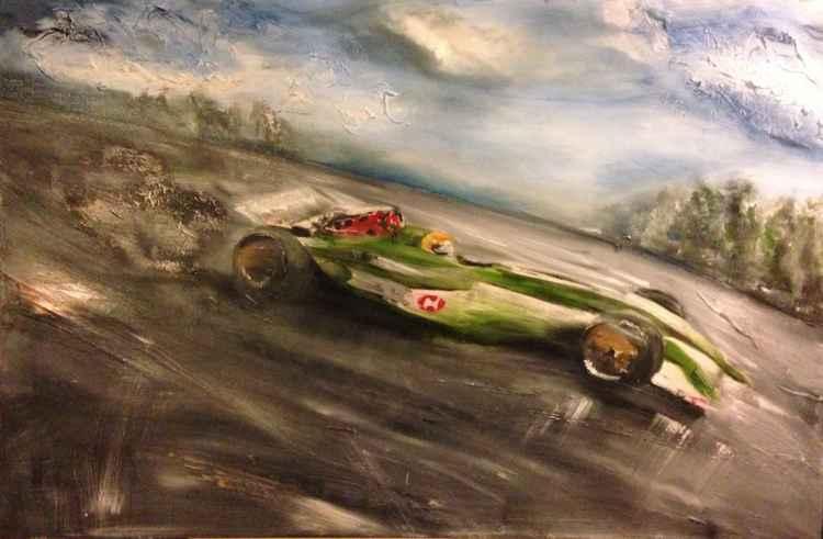 F1 British racing green Jaguar -