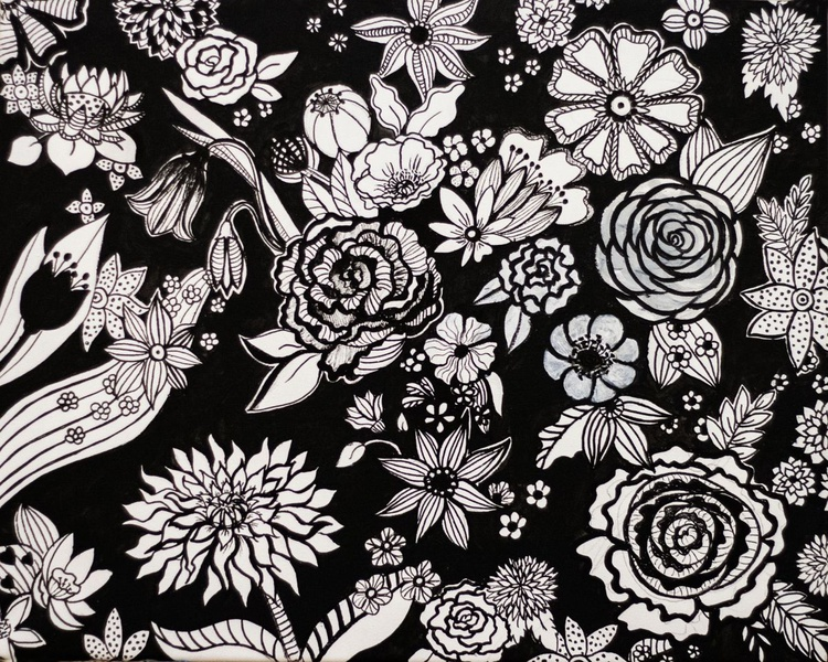 Black And White Flowers - Image 0