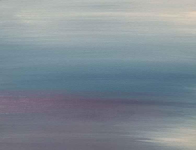 Silence Modern Minimal Oil on Canvas Ready to Hang Wall Art Gift Idea