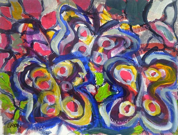 Trois papillons - Image 0