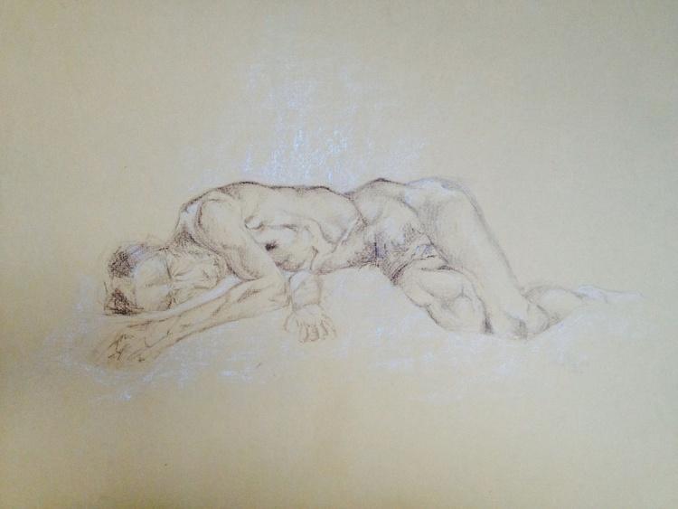 Sleeping Nude Study - Image 0