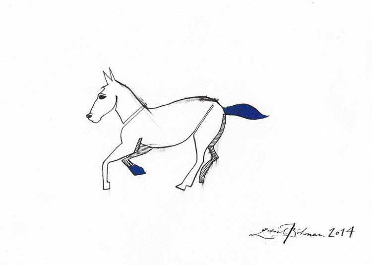 Horse With Blue - Image 0
