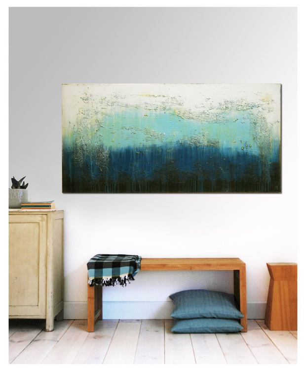 Abstract Painting - Oceanic Blues - C1 - Image 0