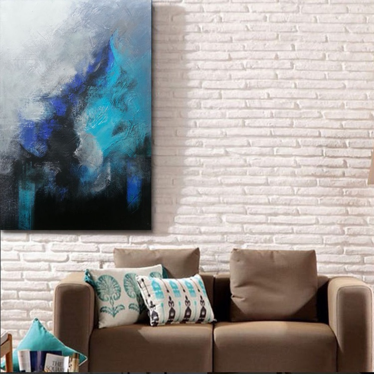 morning(abstract textured acrylic painting) - Image 0