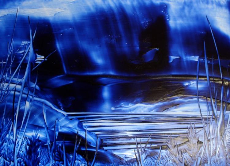 Tranquil Blue Fantasy Landscape - Image 0