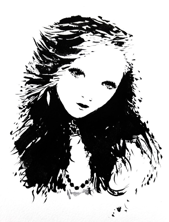 Lady black and white - Image 0