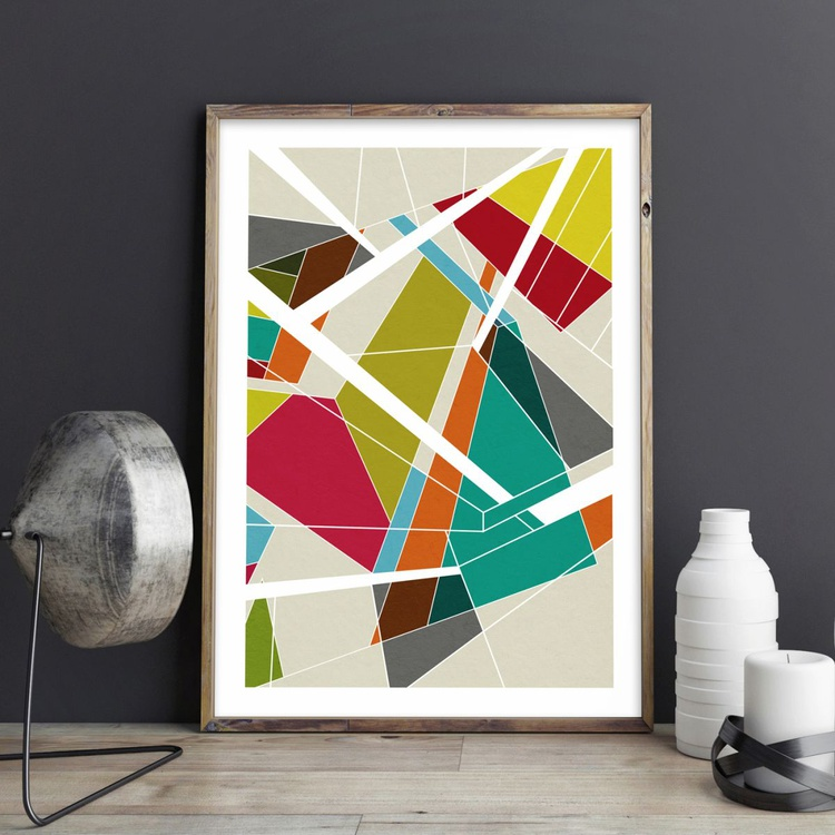 Reflections No.1 Abstract Geometric Limited Edition Prints - Image 0