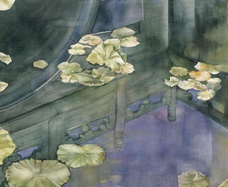 Lotus pond reflection - Image 0