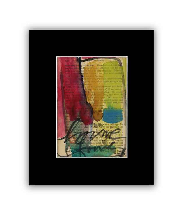 Abstract 16 on Antique Book Page - Abstract Watercolor Painting -