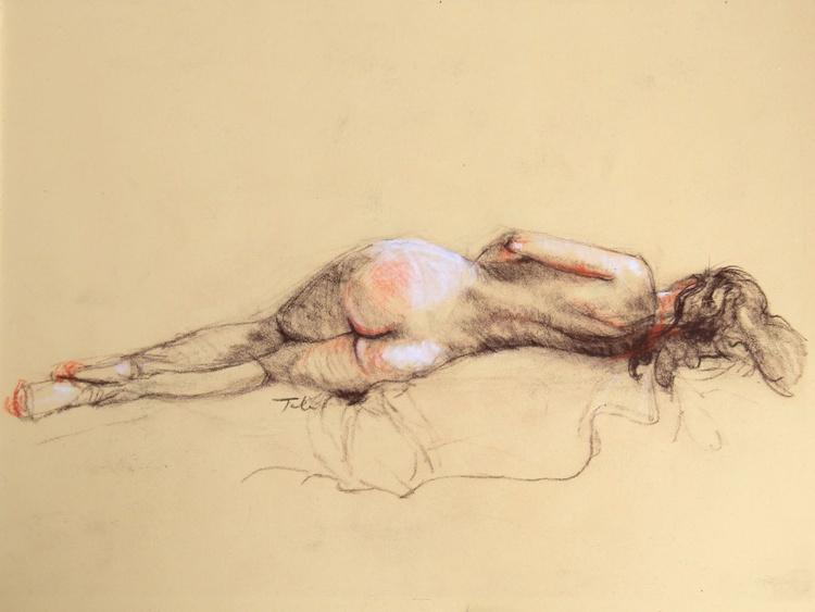 Back of Reclining Female Nude - Image 0