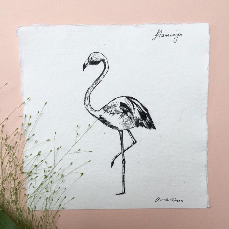 Flamingo Ink Sketch - Image 0