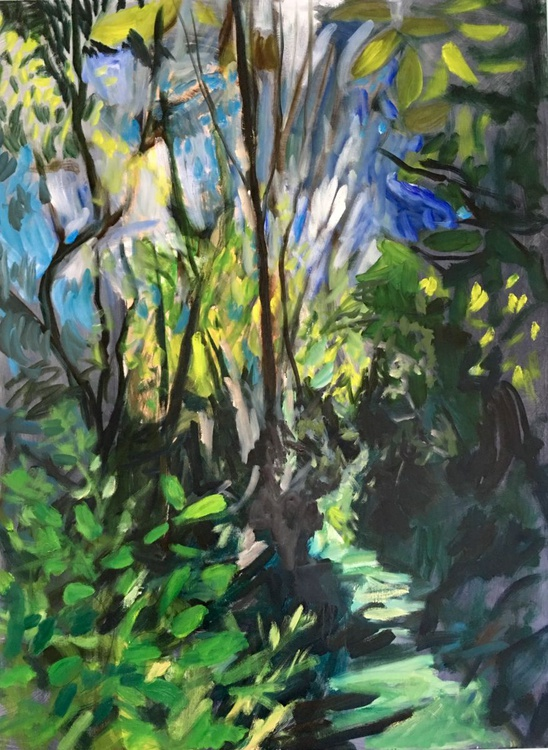 Summer Forest Abstraction, Large abstract expressionist painting - Image 0