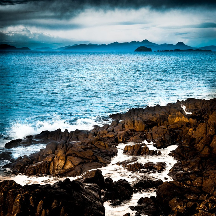 Hebridean Blue  - Ready to hang canvas 28 x 28 inch Limited Edition No 3/25 - Image 0