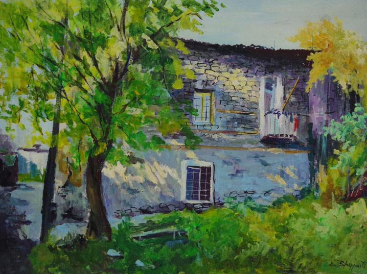 Village Original oil Painting, Realism, Handmade paintingSigned, One of a Kind - Image 0