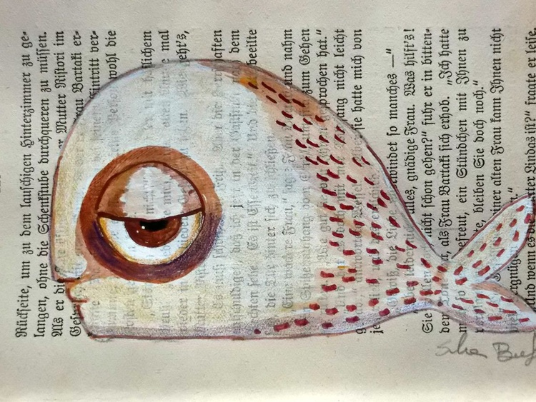 The white fish on page - Image 0