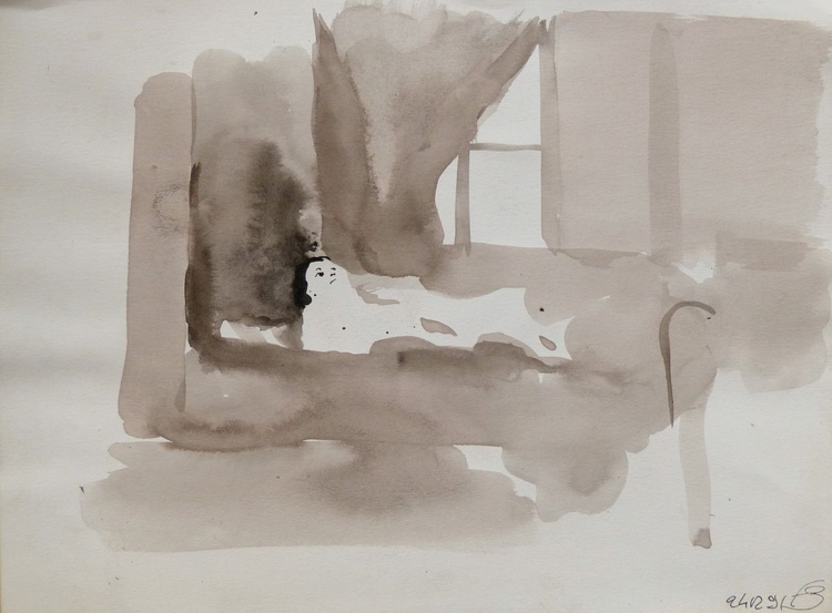 Woman in Bed 3, 24x32 cm - Image 0