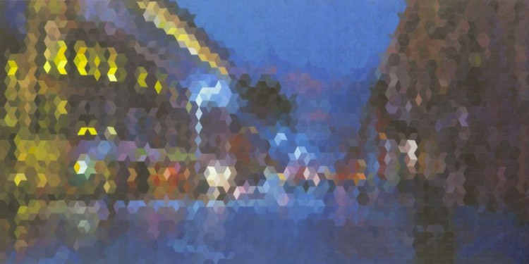 Buchanan Street, Glasgow - An Original Geometric Painting By Scottish Artist Michelle Campbell - Image 0