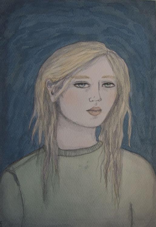 Girl in Green - Image 0