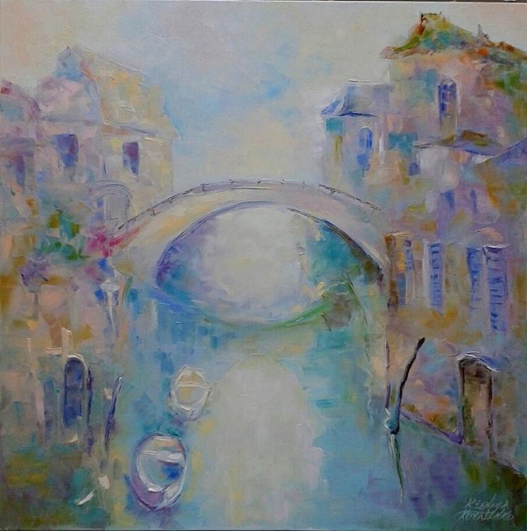 painting *Город романтиков и поэтов* Oil on canvas 80х80 cm - Image 0