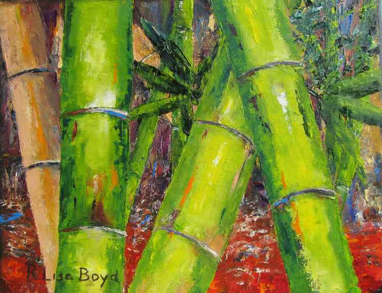 Bamboo by Pallet Knife -