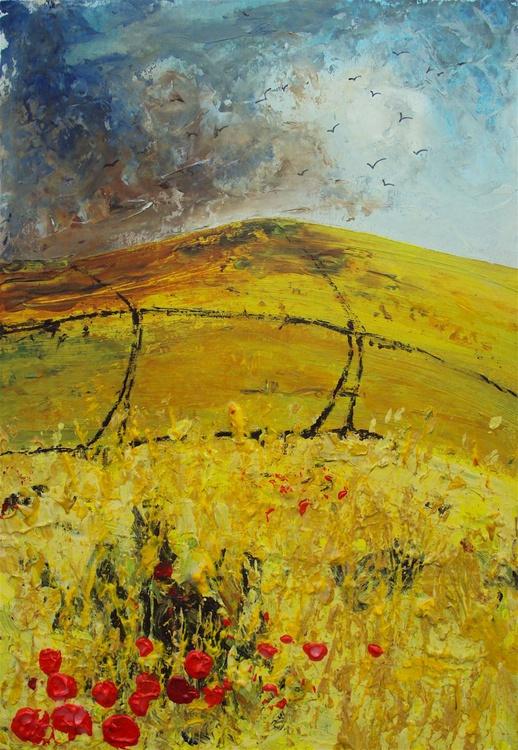 Cornfield, Crows, Poppies - Image 0