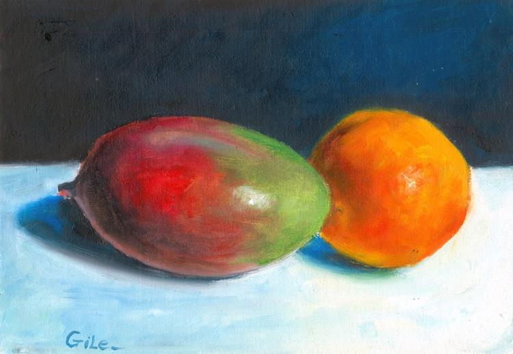 mango and a small orange - Image 0