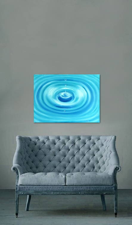 """A Drop of Water 28x20"""" - Image 0"""