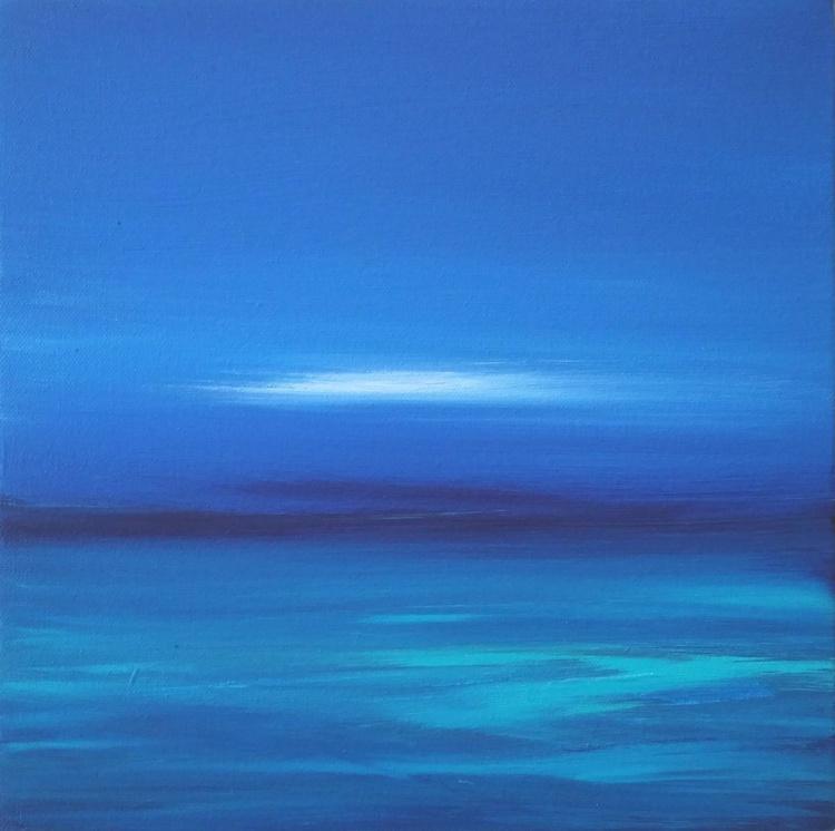 Deep Blue - Great gift for Beach Lovers; Modern Art Office Decor Home Seascape - Image 0