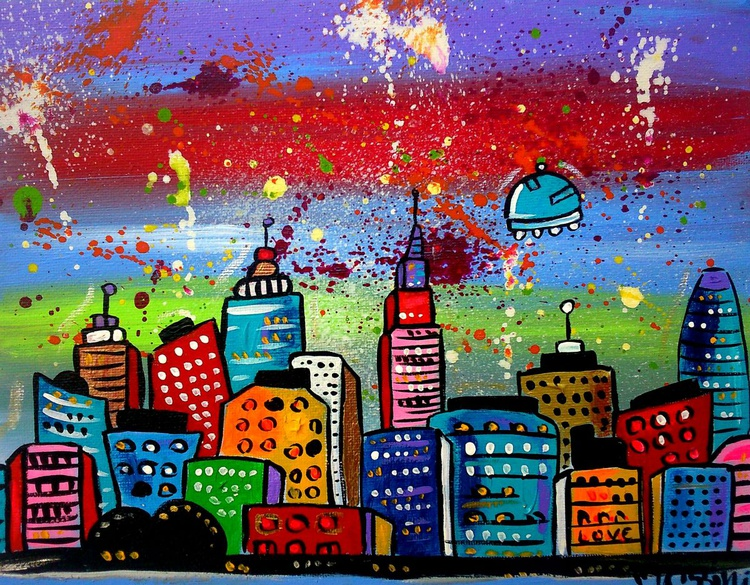 Colourful City in Space - Image 0