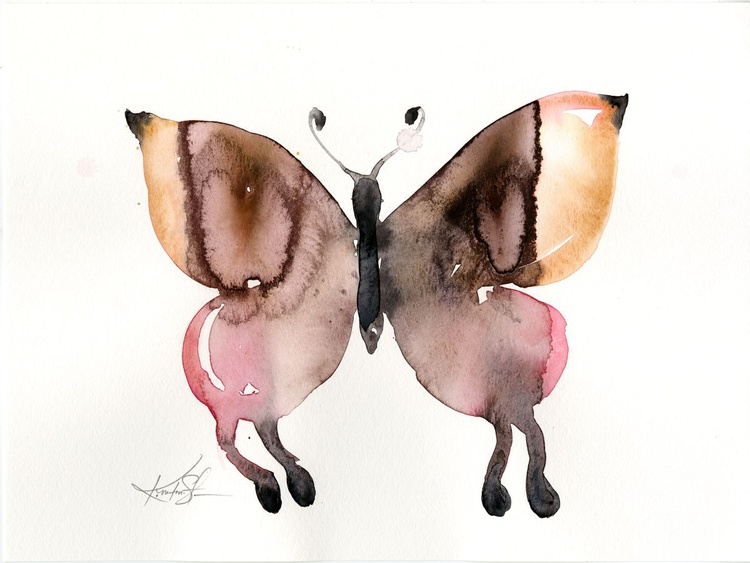 Watercolor Butterfly 1 - Abstract Butterfly Watercolor Painting - Image 0