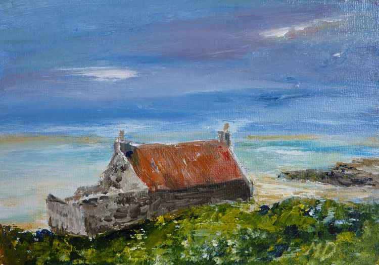 An Old Cottage on Islay -