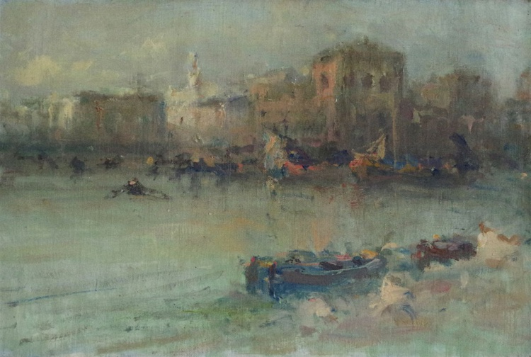 Venice, Original oil Painting, Cityscape, Handmade art, Impressionism, One of a Kind - Image 0