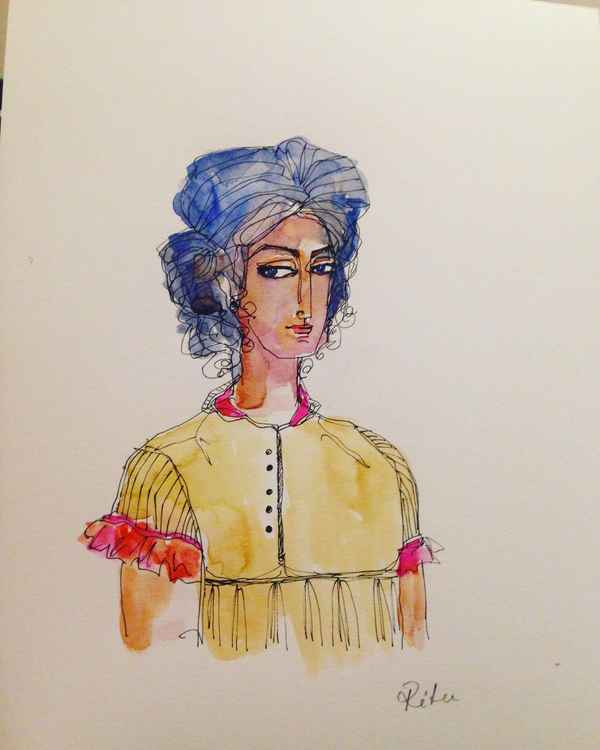 Ink Sketch 1 - Yellow Tunic -