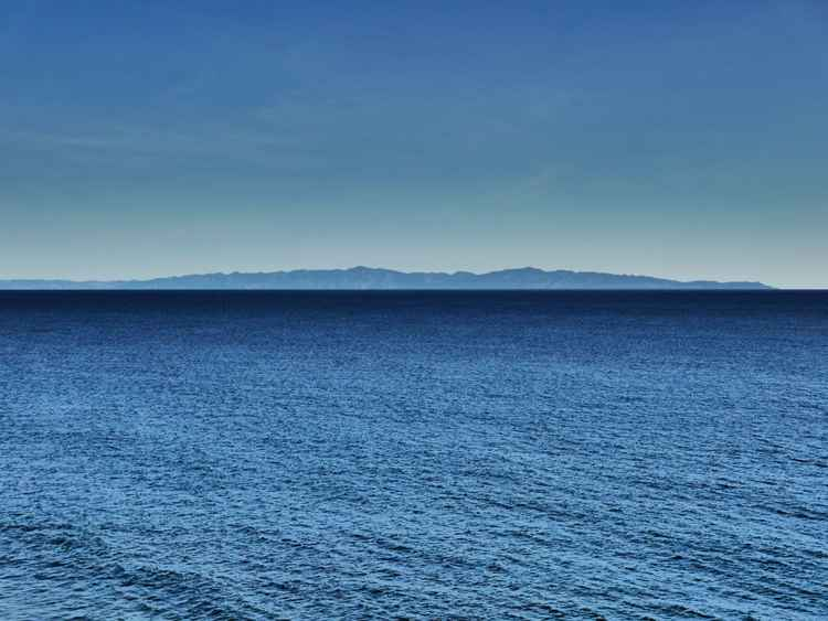 Santa Cruz Island Across the Channel -