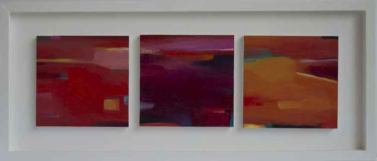 Triptych Abstract Miniature II - Commission for Urbain Bruyere -