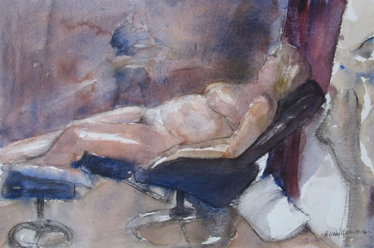 reclining female nude - Image 0