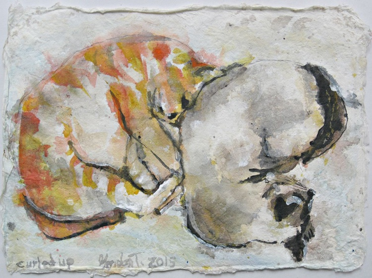 Curled up - Image 0