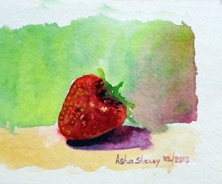"Strawberry-4.5""x 5"" - Image 0"