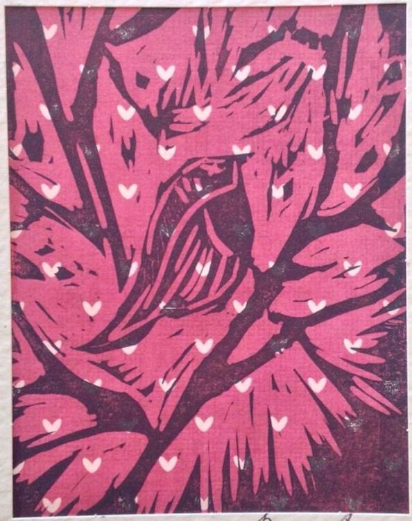 Christmas Robin. Handmade Linocut - Image 0