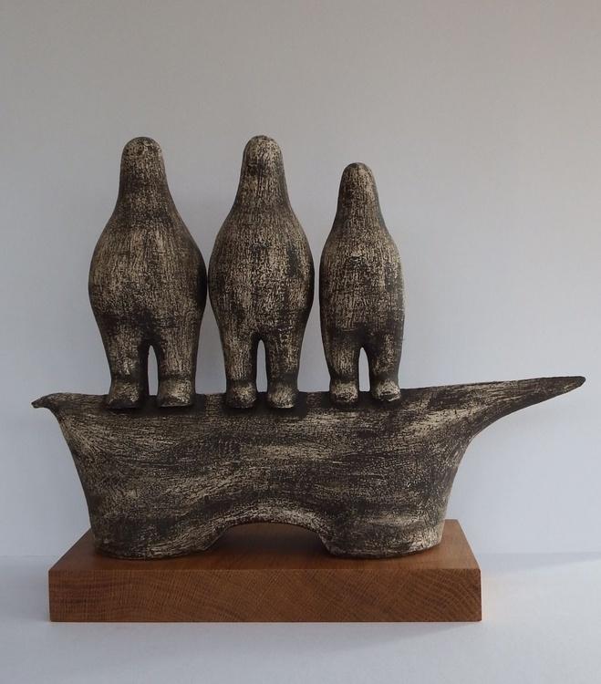 Three figures on animal form - Image 0