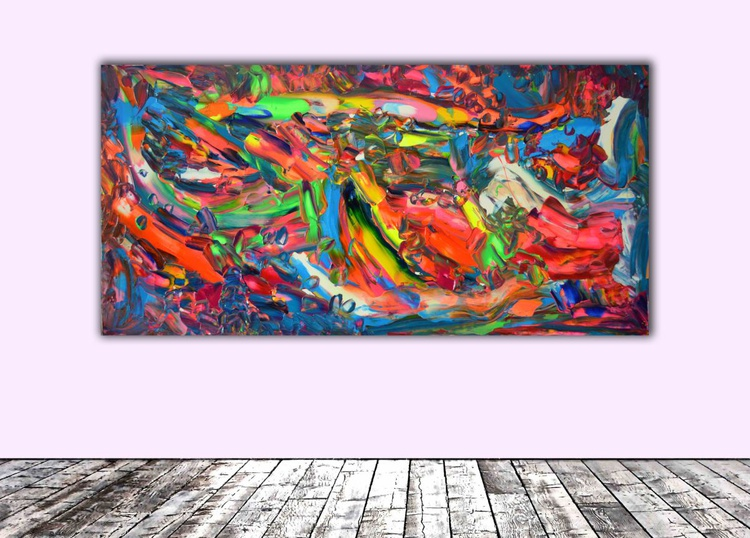 Phosphorus Dischromy nr. 3 - 100x50 cm - Large Painting - Ready to Hang, Office, Hotel Wall Decor - Image 0