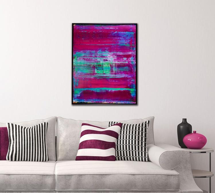 Purple Escapade (Translucent Series) - FRAMED + SIGNED - Image 0