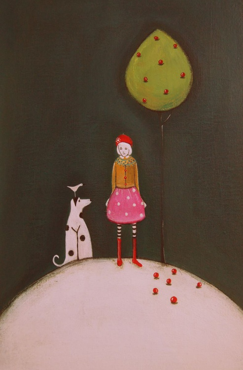 Molly and the Bird Collect Apples.. - Image 0