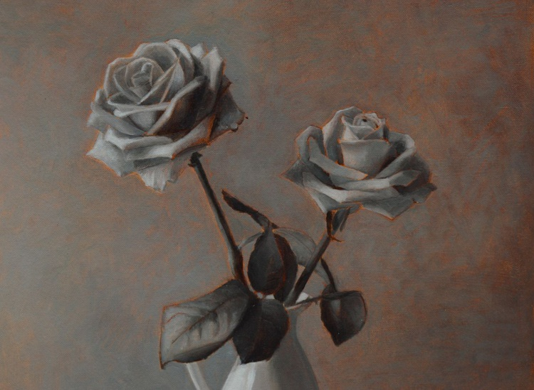 original roses flowers still-life oil painting by Paola Ali' - Image 0