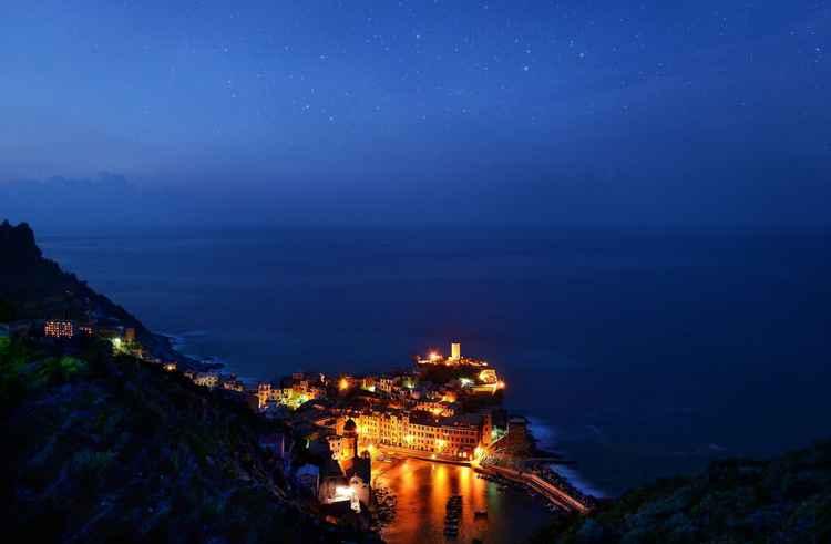 Notte a Vernazza -